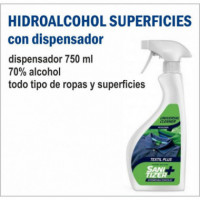 DISPENSADOR HIDROALCOHOL SUPERFICIES 750 ML