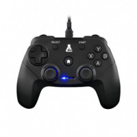 MANDO PARA PS3 PC CON CABLE NEGRO G-LAB